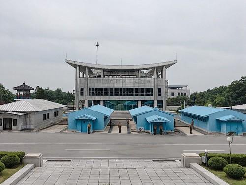 位於南北韓軍事分界線的共同警備區會議室