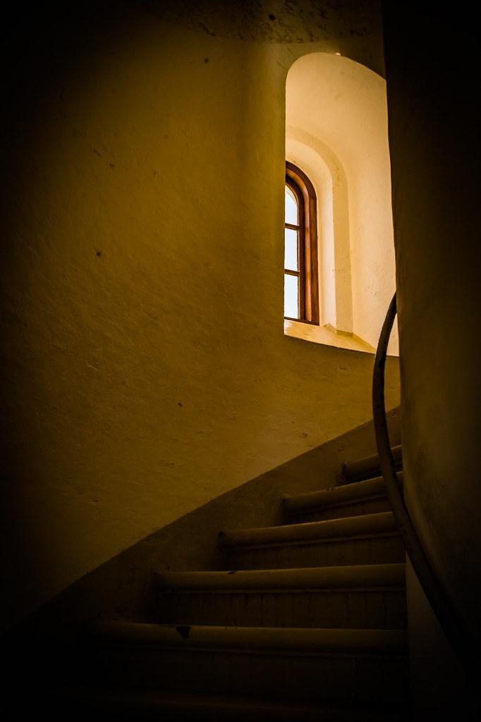 Inside the Hirtshals lighthouse