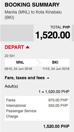 Manila to Kota Kinabalu AirAsia Promo June 24, 2018