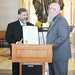 Mayor Bass accepts a legislative citation on behalf of New Milford