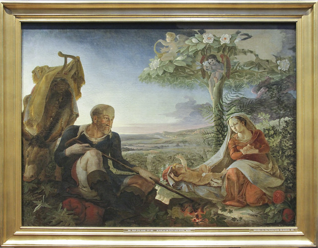 Rest on the Flight into Egypt, Philipp Otto Runge, 1805-6
