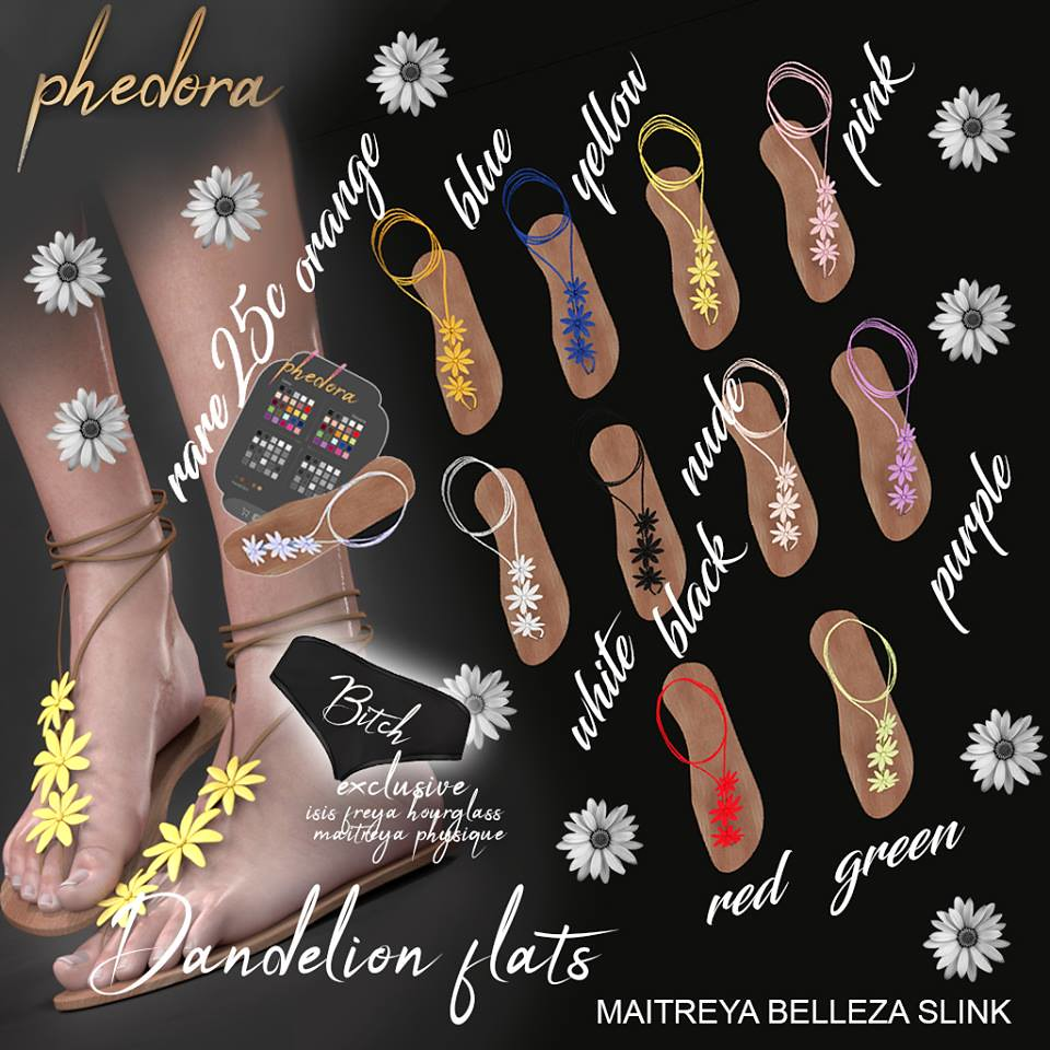 "Phedora. for The Epiphany- ""Dandelion"" sandals gacha♥ - TeleportHub.com Live!"