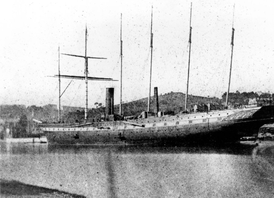 S Great Britain fitting out alongside Gasworks quay in Bristol Floating Harbour (not Cumberland Basin), April 1844. This photograph of Great Britain taken by pioneering photographer William Henry Fox Talbot is not only the first taken of Great Britain, but also believed to be the first photograph ever taken of a ship