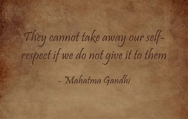 Mahatma Gandhi Respect Quote