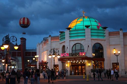 World of Disney at dusk