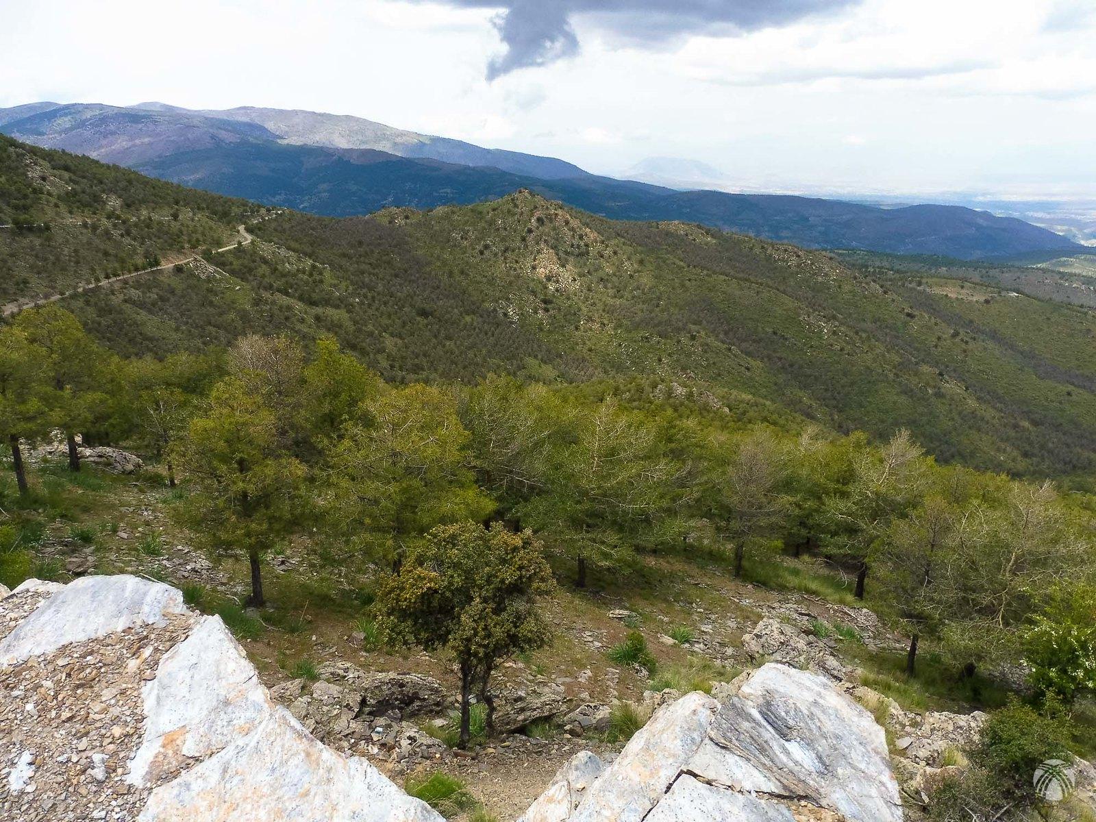Remontando por la vieja carretera hacia el Pico Padilla