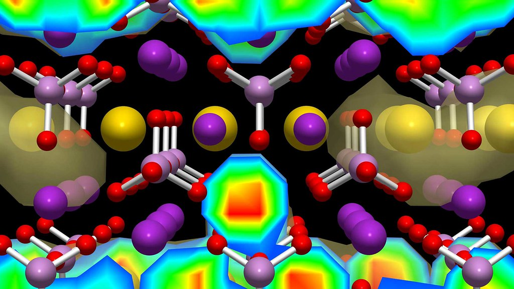 Graphic showing model of molecular structure