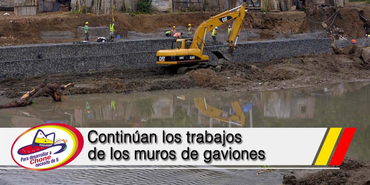 Continúan los trabajos de los muros de gaviones