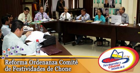 Reforma Ordenanza Comité de Festividades de Chone