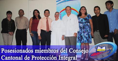 Posesionados miembros del Consejo Cantonal de Protección Integral