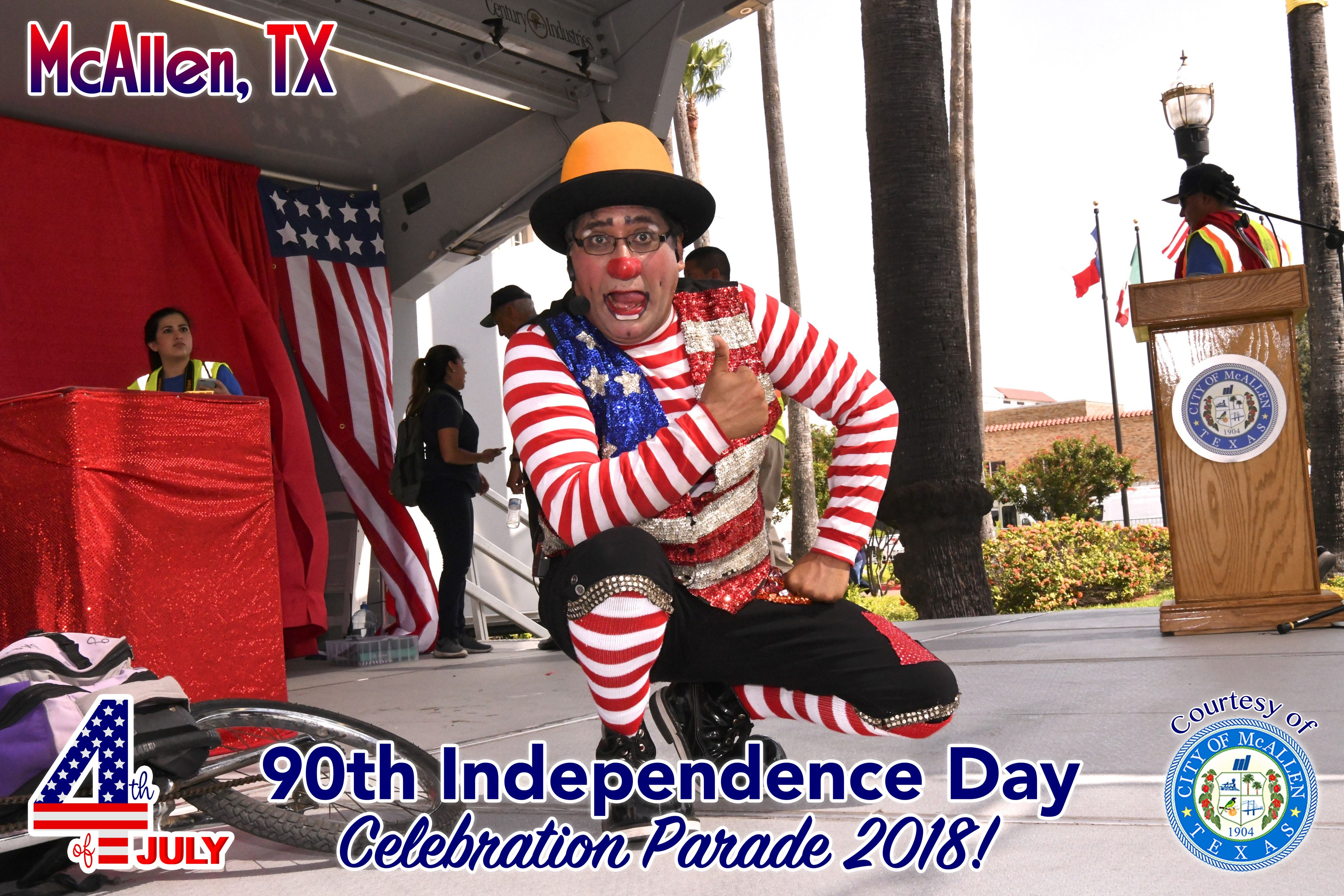 90th McAllen 4th of July Celebration Parade 2018 – Clowns