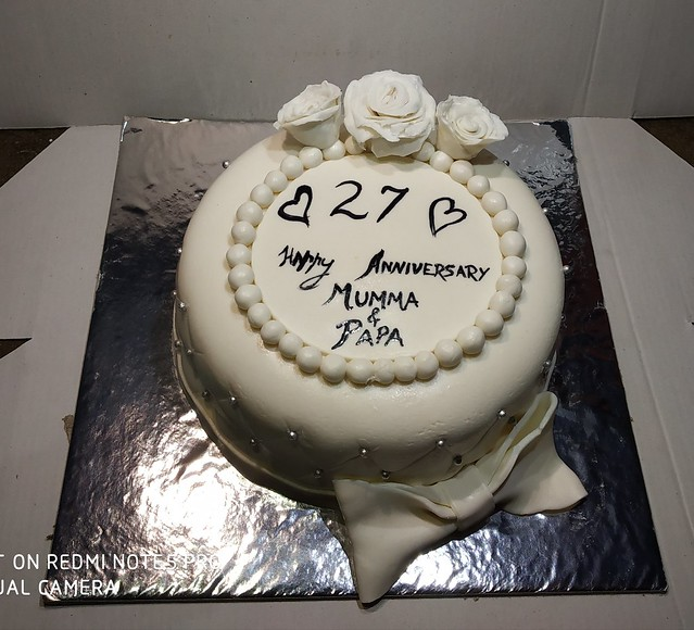 White Flower Cake by Nimisha of The Cake Sensation