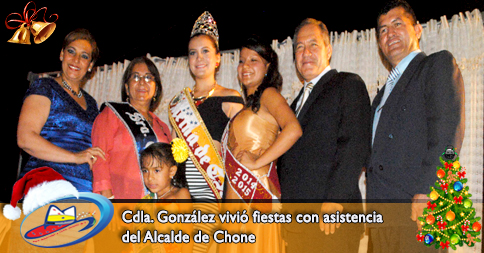 Cdla. González vivió fiestas con asistencia del Alcalde de Chone