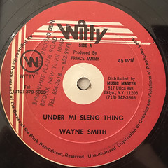 WAYNE SMITH:UNDER MI SLENG TENG(LABEL SIDE-A)