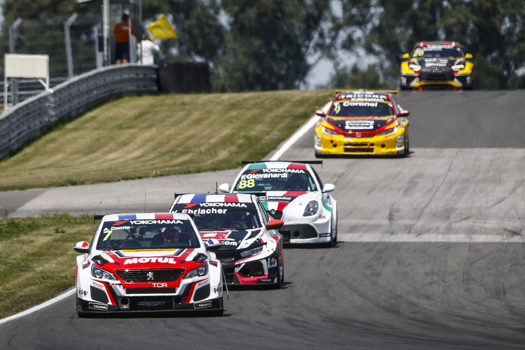 07 COMTE Aurelien, (fra), Peugeot 308 TCR team DG Sport Competition, action during the 2018 FIA WTCR World Touring Car cup race of Slovakia at Slovakia Ring, from july 13 to 15 - Photo François Flamand / DPPI.