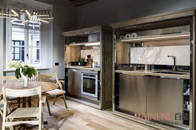 Baineng stainless steel kitchen cabinet