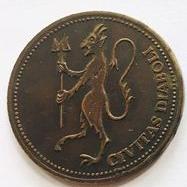 Maj Anholt devil coin obverse