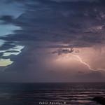 1. Juuli 2018 - 21:48 - Orage sur l'Océan dans la soirée du 1er juillet 2018,depuis Vieux Boucau les Bains dans les Landes.