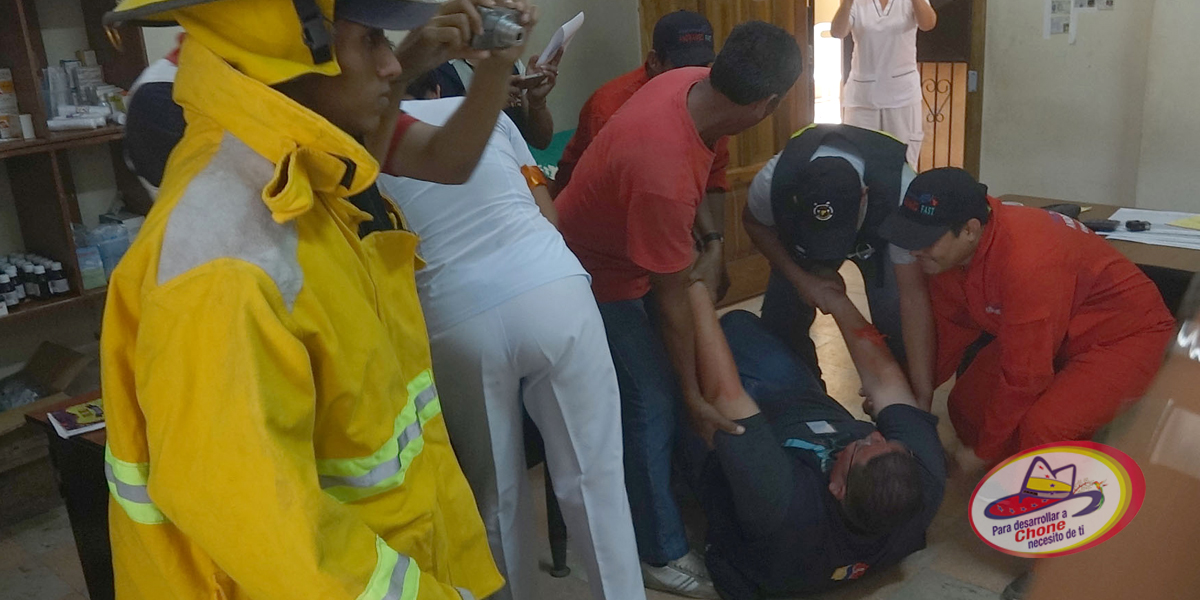 Realizan simulacro contra incendio en distrito de salud