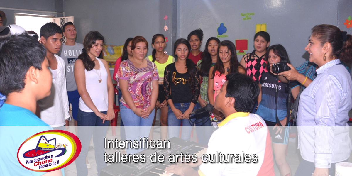 Intensifican talleres de artes culturales