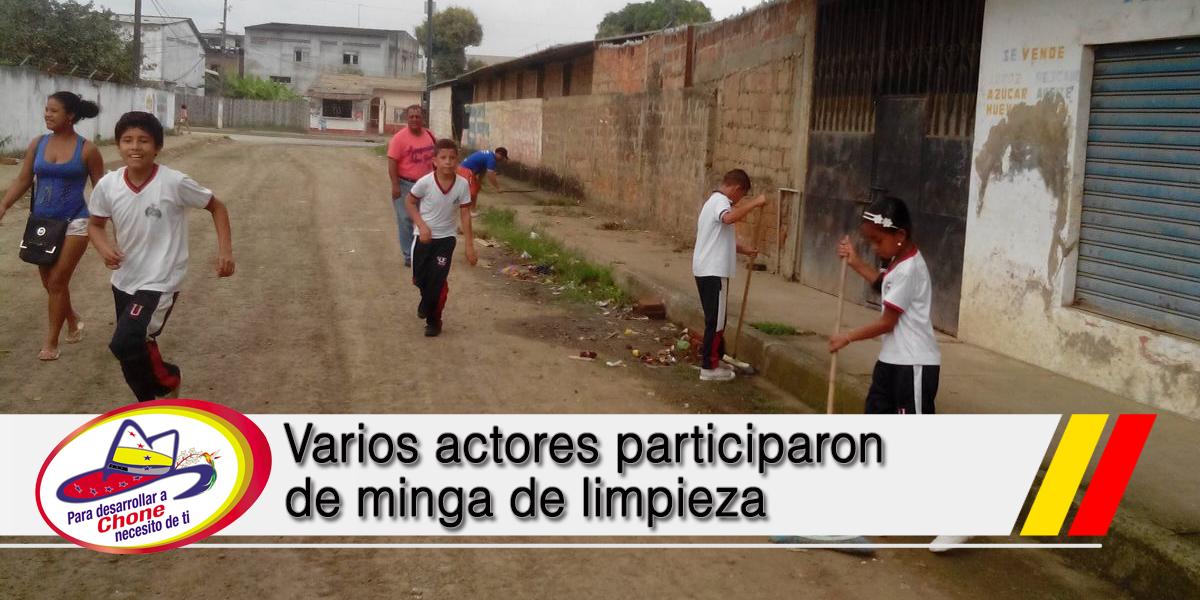 Varios actores participaron de minga de limpieza