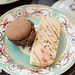 Chocolate macaron and rosemary shortbread