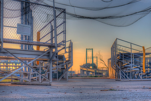 sanpedro california littleleaguefield knollhill vincentthomasbridge sunrise morning