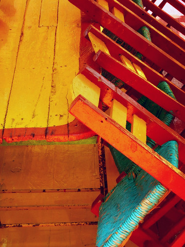 UNESCO Heritage Site Xochimilco with its bright chairs