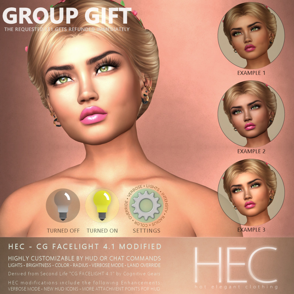 HEC (GROUP GIFT) • CG FACELIGHT 4.1 MODIFIED