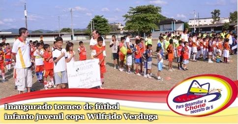 Inaugurado torneo de fútbol infanto juvenil copa Wilfrido Verduga