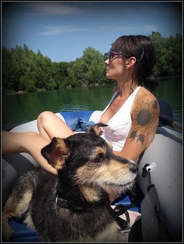 Met Cindy op de boot