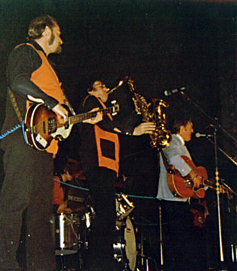 Bill Haley and the Comets performing live in Liége, Belgium, 1974.