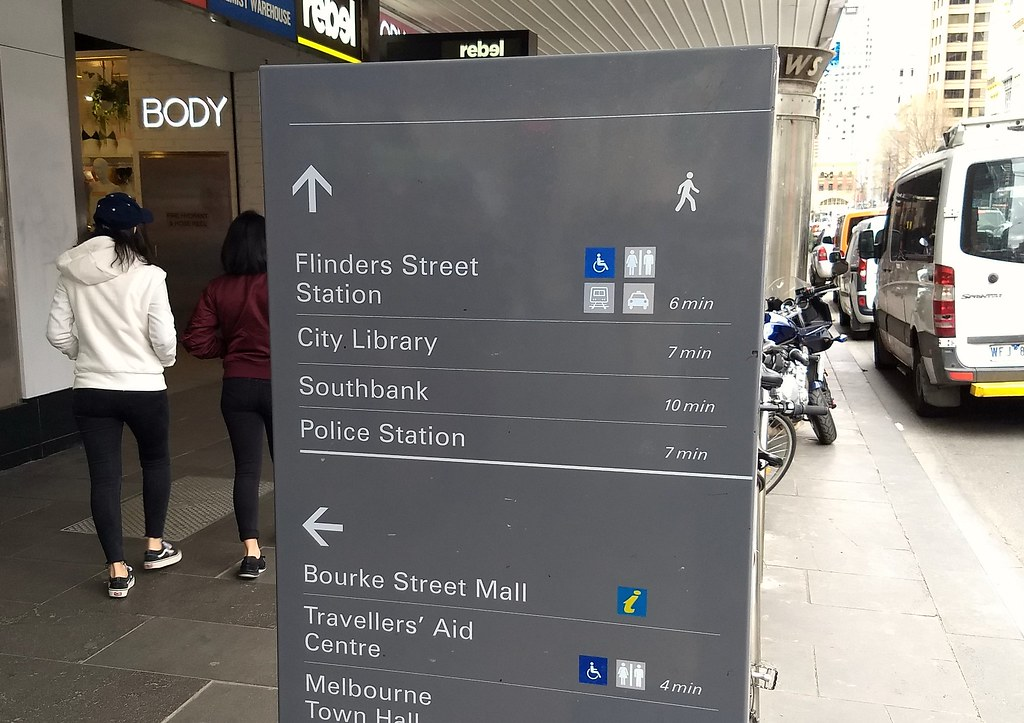 Central Melbourne wayfinding