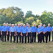 Blue shirted group by river (2)