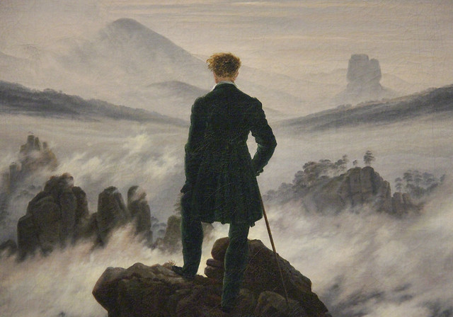 Detail - Wanderer above the Sea of Fog, Casper David Friedrich, c.1817