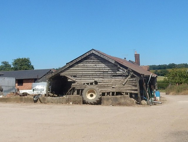 Old barn, New Farm., Nikon COOLPIX S9700