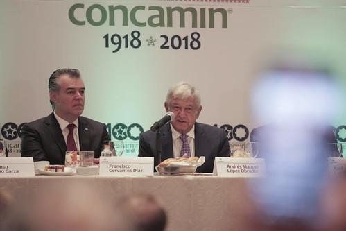 Encuentro y conferencia AMLO - Concamin (9 julio 2018)