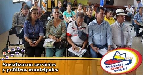 Socializaron servicios y políticas municipales