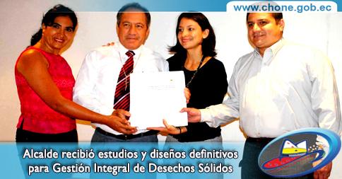 Alcalde recibió estudios y diseños definitivos para Gestión Integral de Desechos Sólidos