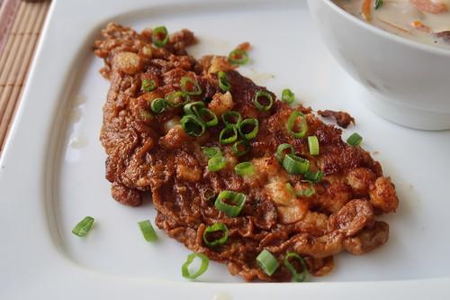 Khai Jeaw Gung Sab = Thai Omelett mit Garnelen