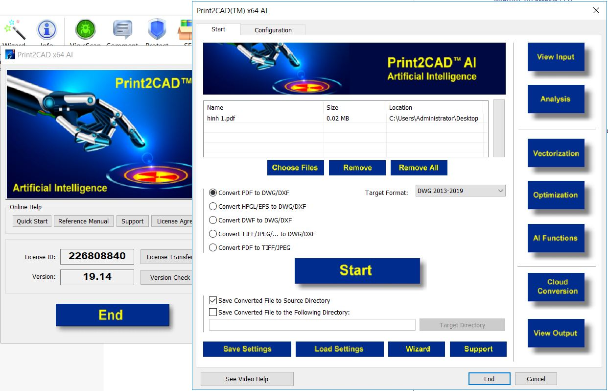 Working with Print2CAD 2018 v19.14 x64 full