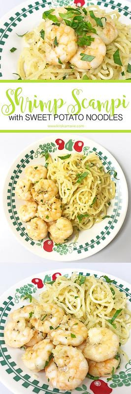 Shrimp Scampi with Sweet Potato Noodles