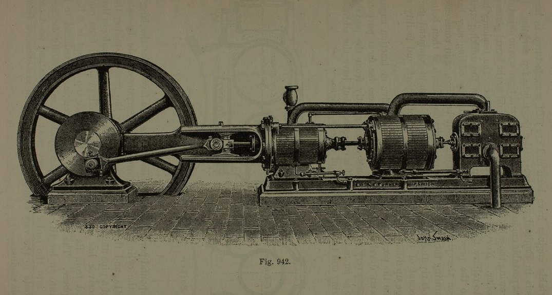 Illustrative figure from 'A Handbook on the Steam Engine' by Herman Haeder, 1896 (Watkins 158)