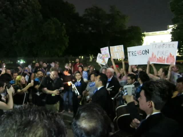 Mariachi band performs at Occupy Lafayette Park