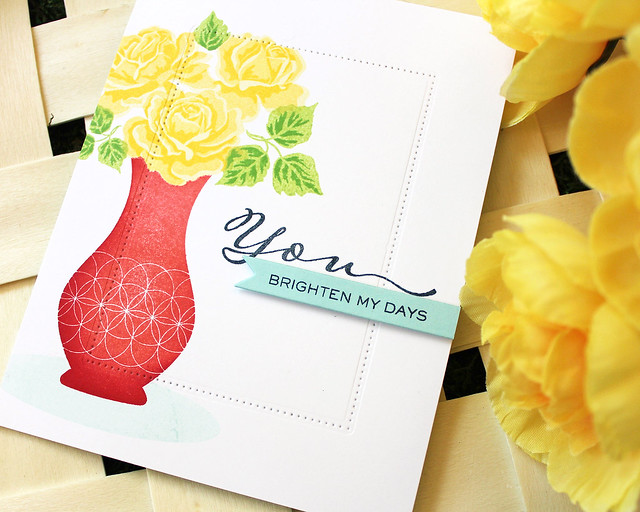 LizzieJones_PapertreyInk_SimpleToSpectacular_June2018_TheSweetLife_YouBrightenMyDaysCard3