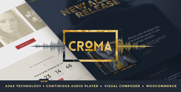 Croma v3.4.5 – Responsive Music WordPress Theme with Ajax and Continuous Playback