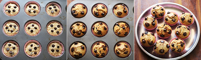 How to make whole wheat choco chip muffins recipe - Step7