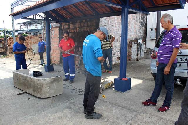 13.07.18 Revitalização de ponto de ônibus no Jorge Teixeira.