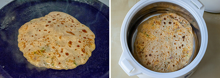 Paneer Paratha cooking steps by GoSpicy.net