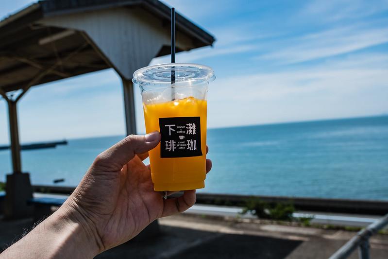 下灘珈琲の温州みかんジュース